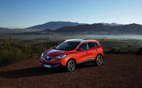 Picture photo, Red, Renault, Car, 2015, Kadjar