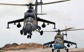 Picture Hind, The Russian air force, OKB M. L. Mil, Mi-24P, Russian attack helicopter
