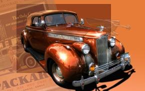 Picture retro, lights, bumper, packard