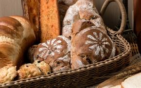 Wallpaper bread, buns, range