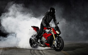Picture Red, Drift, Bike, BMW S1000 R Concept