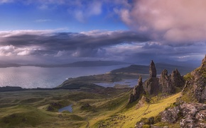 Picture the sky, clouds, Scotland, Scotland, Highlands, An Stor