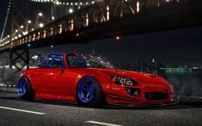 Picture Orange, Honda, Car, Design, Front, S2000, Stance, Low, by Hugo Silva