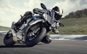 Picture speed, Motorcycle, Yamaha YZF-R1, model 2015
