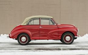 Picture machine, auto, red, retro, car, old, red, classic, old, 1000, tourer, machine., minor, morris
