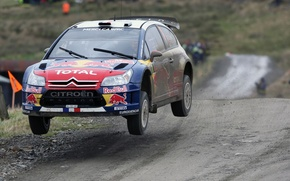 Picture Speed, Flight, Dirt, Citroen, Lights, Rally, Flies, Sebastien Ogier Front