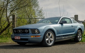 Picture Mustang, Ford, Sky, Blue