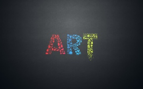 Picture letters, creative, the inscription, art