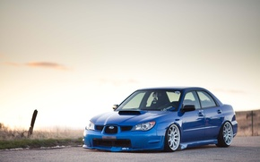 Picture Subaru, Impreza, WRX, blue, Sti, JDM, Stance