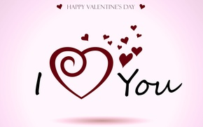 Wallpaper i love you, happy valentines day, holiday, Valentine's day, heart, love