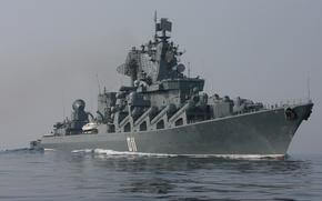 """Picture sea, cruiser, rocket, """"Varyag"""""""