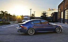 Picture BMW, sedan, drives, E90