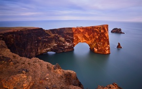 Picture rocks, coast, arch, Iceland, Iceland, The Atlantic ocean, Dyrholaey Arch, Guests Can Also Enjoy The ...