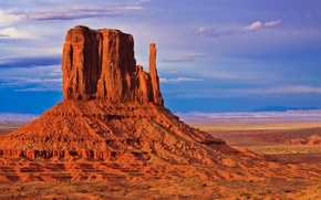 Picture the sky, sunset, rock, mountain, USA, monument valley