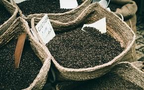 Picture coffee, grain, coffee