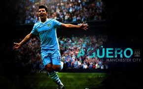 Picture football, Argentina, football, forward, goal, Aguero, Manchester City, Kun, Aguero
