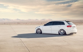 Picture white, Audi, Audi, white, tuning, stance