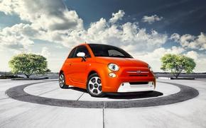 Picture clouds, Fiat, fiat 500e
