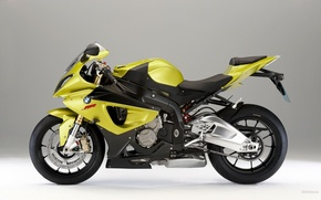 Wallpaper aggressive, sports bike, bmw, yellow