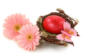 Picture flowers, eggs, spring, Easter, Easter