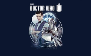Picture look, stars, background, the moon, robot, logo, actor, male, moon, shirt, cyborg, Doctor Who, tombstone, …
