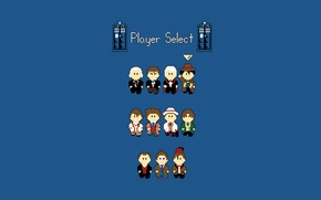 Picture background, art, pixels, Doctor Who, Doctor Who