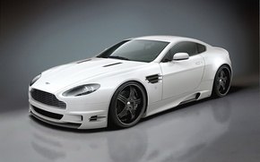 Picture white, reflection, Aston Martin, tuning