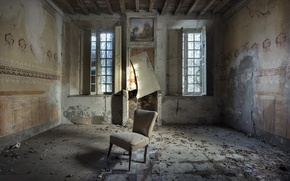 Picture room, Windows, chair