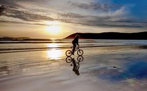 Picture beach, bike, BMX, sunset