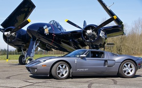 Picture Ford, fighter, Ford, supercar, the airfield, F7F Tigercat
