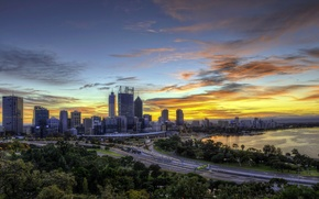 Picture sunset, the city, photo, dawn, road, home, Australia, Sydney