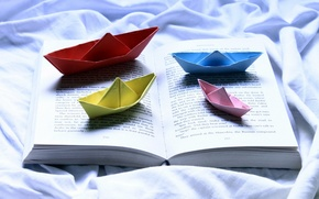 Picture background, book, boats
