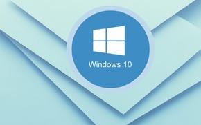 Picture line, background, blue, texture, Windows-10