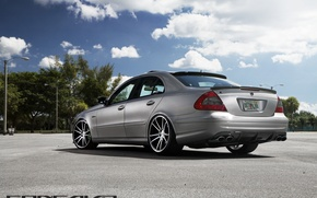 Picture machine, auto, Mercedes Benz, auto, Black, Matte, Wheels, feed, Concave, CW-S5, E-500