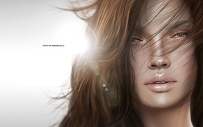 Picture sadness, girl, face, mood, hair, portrait, brown hair