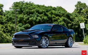 Picture mustang, wheels, ford, vossen
