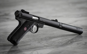 Picture weapons, Mk. III, muffler, Ruger, background