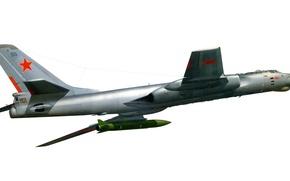 Wallpaper star, USSR, red, star, the plane, red, missile, jet, Tupolev, Tupolev, multipurpose, Soviet, heavy, Tu-16, ...