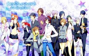 Picture anime, art, characters, Devil Survivor 2, Devil Survivor
