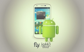 Picture phone, Android, android, fly, trend, iq443