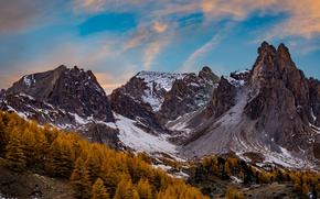 Picture autumn, trees, mountains, France, Alps