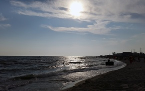 Picture sea, summer, the sun, Iron Port