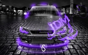 Picture Night, The city, Fire, City, Flame, Toyota, Fire, Purple, Height, Night, Violet, Toyota, JDM, Crystal, …