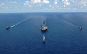 Picture group, the carrier, shock, USS George Washington, CVN-73, Carrier
