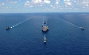 Wallpaper shock, USS George Washington, CVN-73, Carrier, the carrier, group