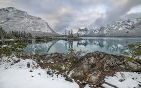 Picture mountains, lake, reflection, Canada, Albert, Banff National Park, Alberta, Canada, Banff, Canadian Rockies, Canadian Rockies, …