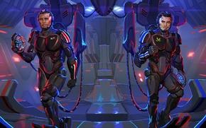 Picture Mass Effect, crossover, Shepard, Kaidan Alenka, Pacific Rim