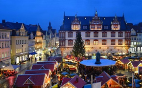 Picture lights, Germany, Bayern, area, Coburg, Christmas market