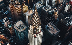 Wallpaper the city, skyscraper, USA, Manhattan, The Chrysler building
