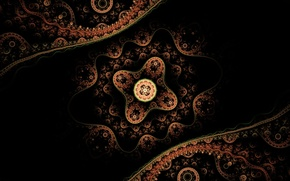 Wallpaper Lace, Projection, Abstract, Astral